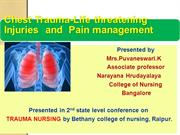 Chest injuries and pain management