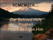 Holy Prophet P.B.U.H