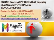 ONLINE Oracle APPS TECHNICAL  training CLASSES and TUTORIALS in BANGAL
