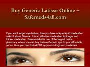 Buy Online Latisse Generic Eye Drop from Safemeds4all