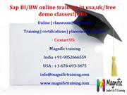 Sap BI/BW online training in usa,uk%free demo classes@JOBS