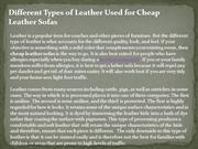 Different Types of Leather Used for Cheap Leather Sofas