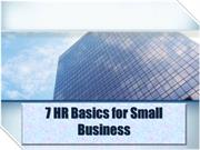7 HR Basics for Small Business