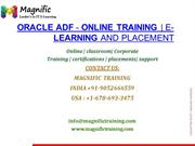 Oracle ADF - Online Training  E-Learning and Placement