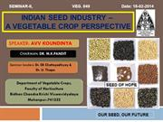 Indian Veg. Seed Industry