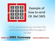 Example about how to send sms in c#
