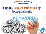 Must Have Keyword Optimization Tips for Your LinkedIn Profile