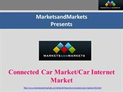 Connected Car Market or Car Internet Market