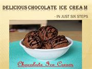 delcious choc ice cream