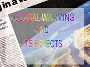 Global warming and its effects