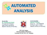 AUTOMATED ANALYSIS