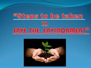 steps to be takento save the environment