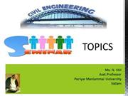 seminar topics for civil  Engineering students