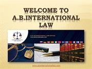 Welcome to A.B.International Law