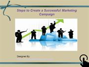 Steps to Create a Successful Marketing Campaign