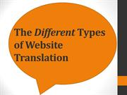 The Different Types of Website Translation
