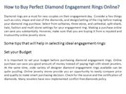 How to Buy Perfect Diamond Engagement Rings Online