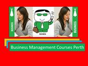 Business Management Courses Perth