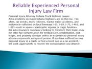 Reliable Experienced Personal Injury Law Firm