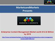 Enterprise Content Management Market worth $12.32 Billion by 2019