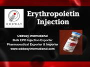 Erythropoietin Injection Price | Wholesale EPO Injection Supplier