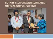 rotary club greater Ludhiana –official governor visit