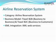 trawex - airline reservation system -air ticket management system -