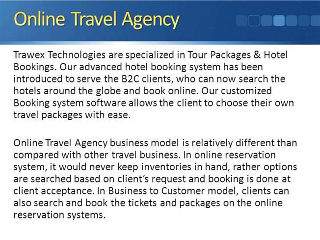 Trawex - Online-Travel-Agency-Travel-Booking System-Software