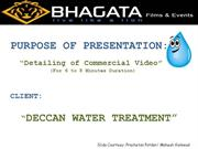 sample video proposal for deccan watertreatments