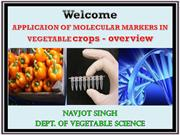 APPLICAION OF MOLECULAR MARKERS IN VEGETABLE crops - overview
