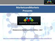 Metabolomics Market worth $1.5 Billion - 2017