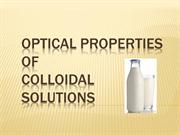 optical properties of colloidal solutions
