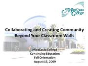 Collaborating and Creating Community Beyond Your C