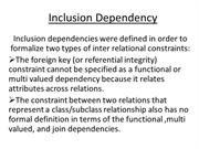 Inclusion Dependency