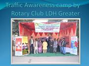 Traffic Awareness camp by Rotary Club LDH Greater
