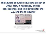 The Edward Snowden 2013 NSA Data Breach - William Favre Slater III