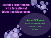 Science Experiments with Exceptional Education Classrooms