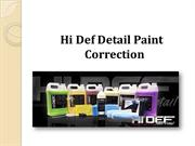 Hi Def Detail Paint Correction