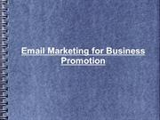 Email Marketing for Business Promotion