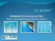 Swimming pool algae control - LG Sonic