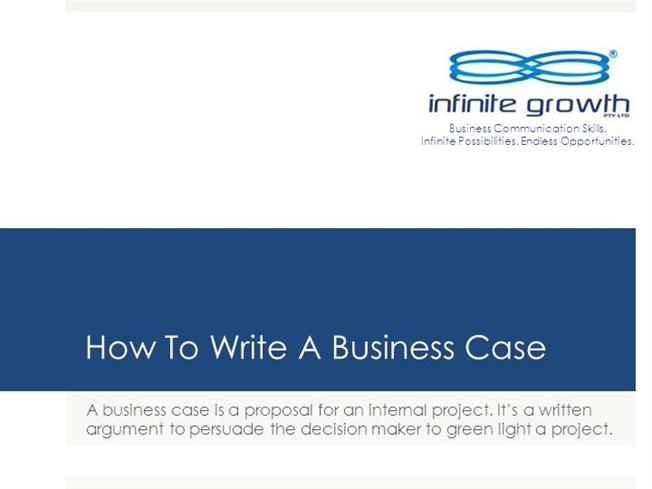 how to write a business case solution