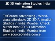2D 3D Animation Studios India Mumbai