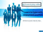 learn to type with enjoyment and fun