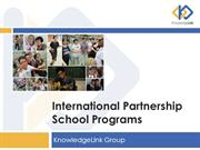 International Partnership School Programs