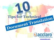 Acclaro Tips for Technical Document Translation