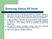 Samsung Galaxy S5 Deals