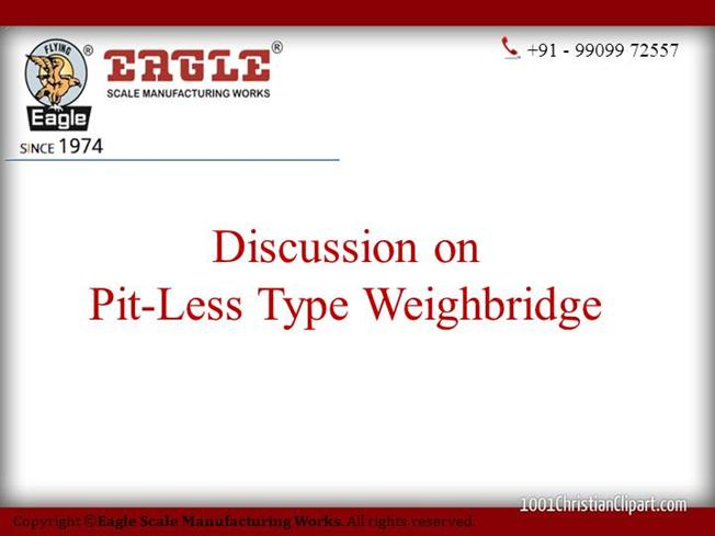 Pitless Weighbridge Manufacturer,Exporter, India, South