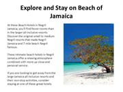 Explore and Stay on Beach of Jamaica