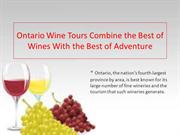 Ontario Wine Tours Combine the Best of Wines With the Best