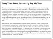 Party Time Prom Dresses by Say My Vows